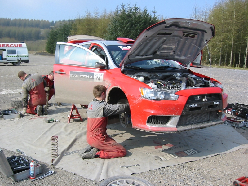 Continuing development of Group N EvoX and Lancer WRCar